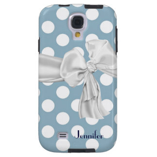 Blue White Polka Dot Samsung Galaxy S4 Case
