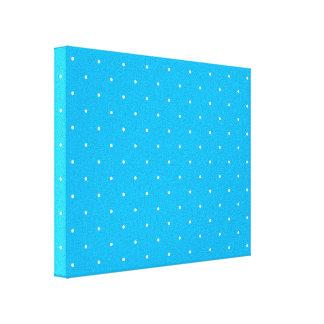 Blue & White Polka Dots Canvas Print