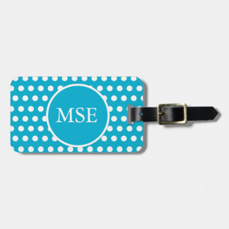 Blue White Polka Dots Tag For Luggage