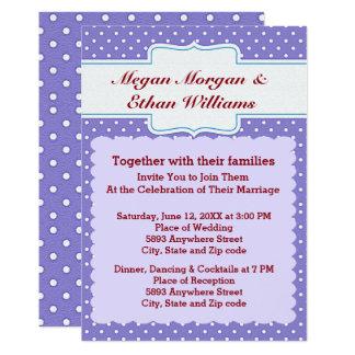 Blue & White Polka Dots Wedding Invitation