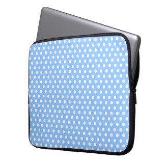 Blue white polkadot dream laptop sleeve