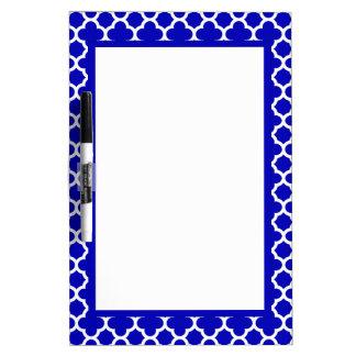 Blue White Quatrefoil Dry-Erase Board