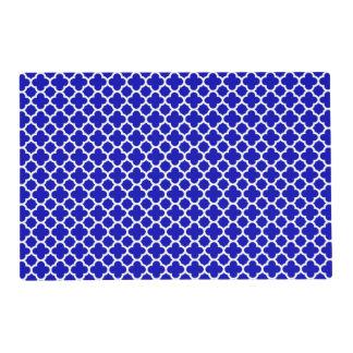 Blue White Quatrefoil Placemat