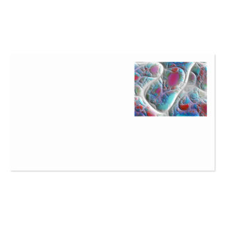 Blue & White Quilt - Magenta & Aqua Delight Double-Sided Standard Business Cards (Pack Of 100)