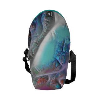 Blue & White Quilt - Magenta & Aqua Delight Mini Courier Bags