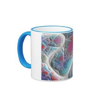 Blue & White Quilt - Magenta & Aqua Delight Mug
