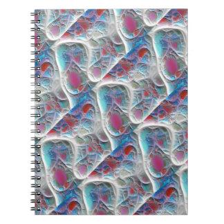 Blue & White Quilt - Magenta & Aqua Delight Notebook