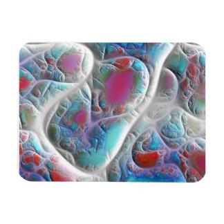 Blue White Quilt - Magenta Aqua Delight Magnets