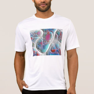 Blue & White Quilt - Magenta & Aqua Delight T-Shirt