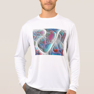 Blue & White Quilt - Magenta & Aqua Delight Tee Shirt