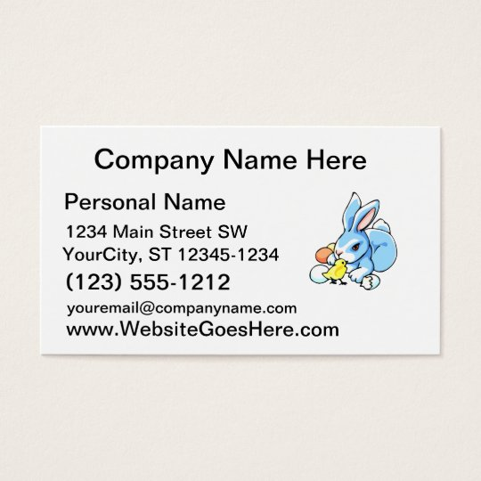 blue white rabbit chick.png business card