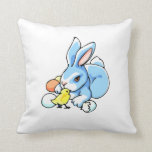 blue white rabbit chick.png pillows