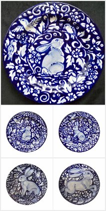 Blue & White Rabbit Dinnerware Collection