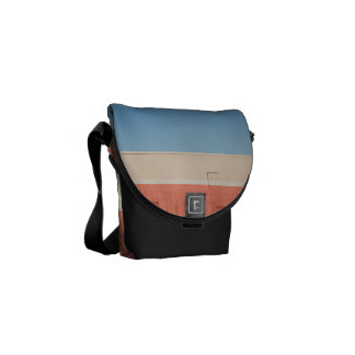 Blue White Red Courier Bag
