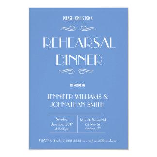 Blue & White Rehearsal Dinner Invitations