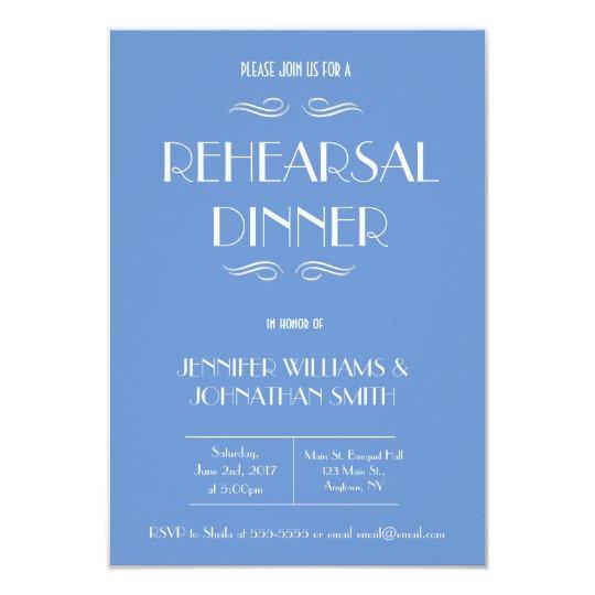 blue white rehearsal dinner invitations zazzle com
