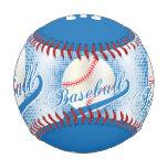 Blue | White Retro Baseball Sports