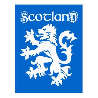 Blue & White Scottish Lion Rampant Postcard