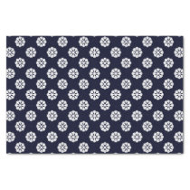 blue white snowflakes winter holidays pattern tissue paper