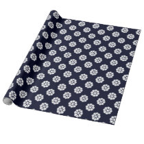 blue white snowflakes winter holidays pattern wrapping paper