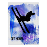 Blue & White Splashes Posters