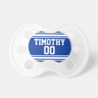 Blue & White Sports Jersey for Baby Boy BooginHead Pacifier