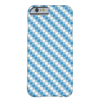 Blue-white squares background barely there iPhone 6 case