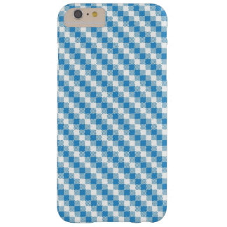 Blue-white squares background barely there iPhone 6 plus case