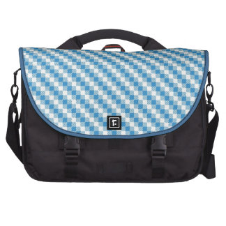 Blue-white squares background laptop bags