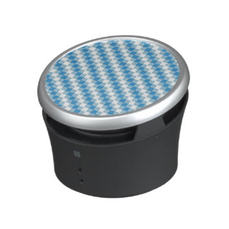 Blue-white squares background speaker