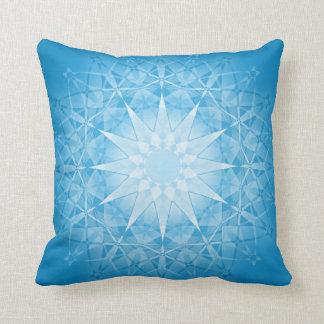 Blue White Star Geometric Pattern Pillow