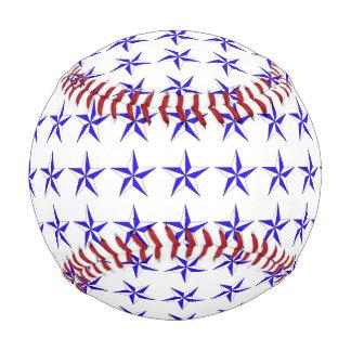 Blue White Stars Baseball