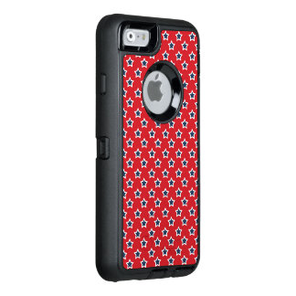 Blue & White Stars on Red OtterBox iPhone 6/6s Case
