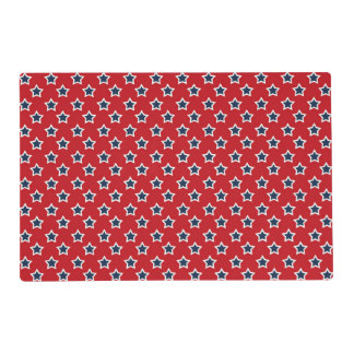 Blue & White Stars on Red Placemat