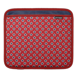 Blue & White Stars on Red Sleeve For iPads