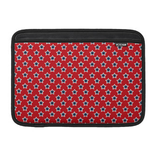 Blue & White Stars on Red Sleeve For MacBook Air