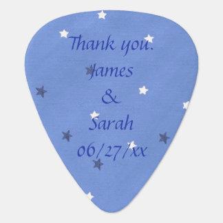 Blue White Stars Personalized Guitar Picks Favors Guitar Pick