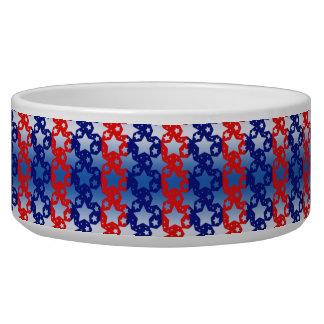Blue White Stars Red Blue Stripes Bowl