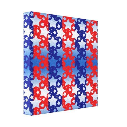 Blue White Stars Red Blue Stripes Canvas Print
