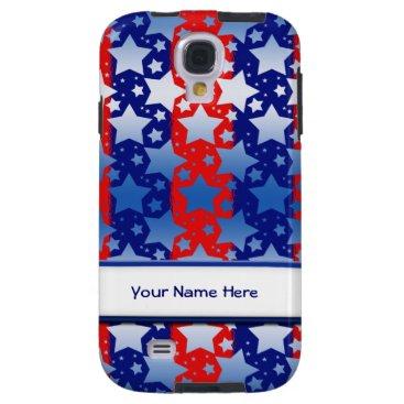 linda_mn Blue White Stars Red Blue Stripes Galaxy S4 Case