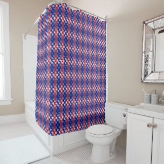 Blue White Stars Red Blue Stripes Shower CurtainRed White And Blue Shower Curtains   Zazzle. Red And Blue Shower Curtain. Home Design Ideas