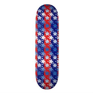Blue White Stars Red Blue Stripes Skate Deck