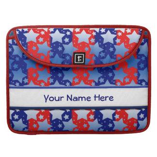 Blue White Stars Red Blue Stripes Sleeve For MacBooks