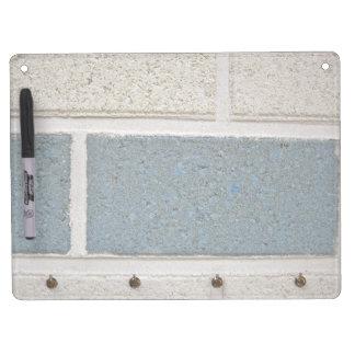 Blue White Stone Brick Wall Texture Dry Erase Boards