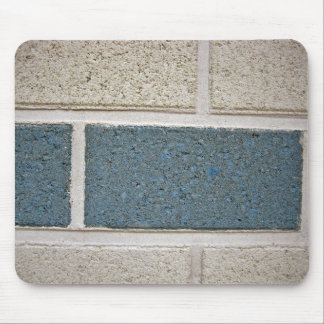Blue White Stone Brick Wall Texture Mousepads