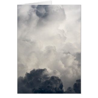 Blue White Storm Cloud Thunder Clouds Storms Card
