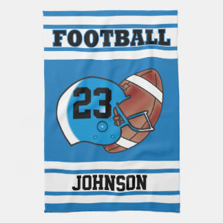 Blue & White Stripe Football Jersey Kitchen Towel