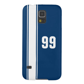 Blue & White Stripe Jersey Numbered Samsung Case