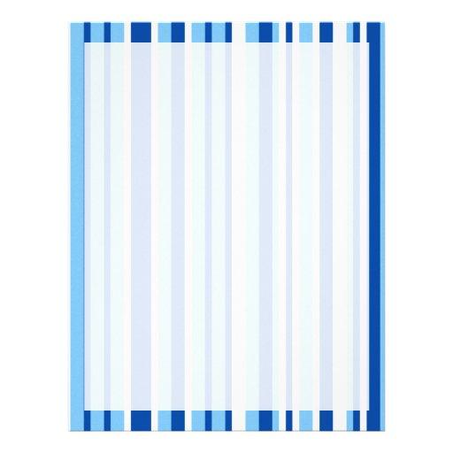 Blue & White Stripe Pattern Letterhead