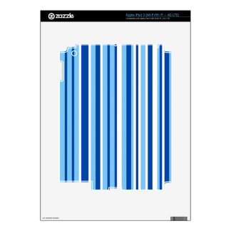 Blue & White Stripe Pattern iPad 3 Decal